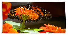 Monarch Butterfly II Bath Towel by Patrice Zinck