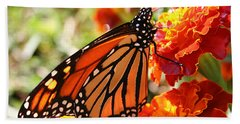 Monarch On Marigold Hand Towel
