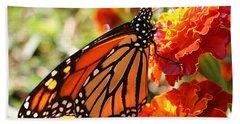 Monarch On Marigold Bath Towel