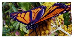 Monarch On Yarrow Hand Towel