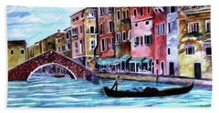 Monday In Venice Bath Towel