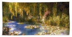 Monet After Midnight Bath Towel by RC deWinter
