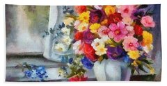 Monet Floral Edged Hand Towel