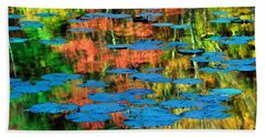 Monet Reflection Hand Towel