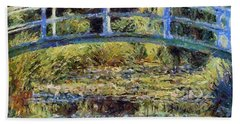 Monet's Bridge Bath Towel