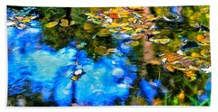 Hand Towel featuring the photograph Monet's Garden by Ira Shander
