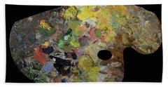 Palette Belonging To Claude Monet Bath Towel