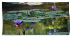 Monet's Waterlily Pond Number Two Hand Towel by Heather Kirk