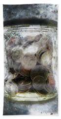 Money Frozen In A Jar Hand Towel
