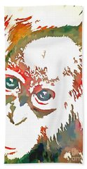Monkey Pop Art Hand Towel