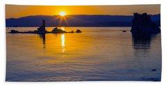 Mono Lake Sunrise Bath Towel