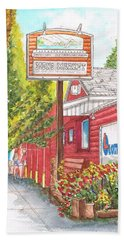 Mono Market Near Mono Lake In Lee Vining-california Bath Towel