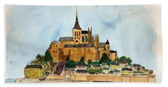 Mont Saint-michel Hand Towel