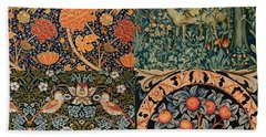 Montage Of Morris Designs Bath Towel