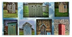 Montage Of Outhouses Hand Towel