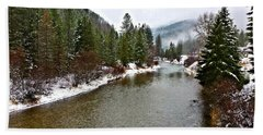 Montana Winter Bath Towel by Susan Kinney
