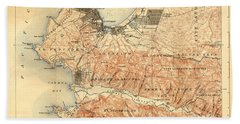 Monterey And Carmel Valley  Monterey Peninsula California  1912 Hand Towel by California Views Mr Pat Hathaway Archives