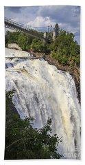 Montmorency Falls Park Quebec City Canada Bath Towel