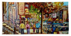 Montreal Streetscenes By Cityscene Artist Carole Spandau Over 500 Montreal Canvas Prints To Choose  Hand Towel