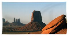 Monument Valley Afternoon Bath Towel by Jeff Brunton