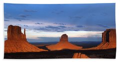 Monument Valley @ Sunset 2 Bath Towel by Jeff Brunton