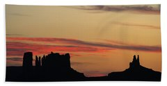 Monument Valley Sunset 1 Bath Towel by Jeff Brunton