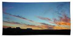 Monument Valley Sunset 2 Bath Towel by Jeff Brunton