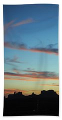 Monument Valley Sunset 3 Bath Towel by Jeff Brunton