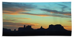 Monument Valley Sunset 4  Bath Towel by Jeff Brunton