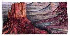 Monument Valley Arizona - Landscape Art Painting Bath Towel