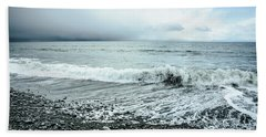 Moody Shoreline French Beach Hand Towel