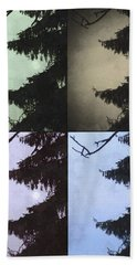 Bath Towel featuring the photograph Moon And Tree by Photographic Arts And Design Studio