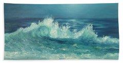 Moon Beach Painting Bath Towel