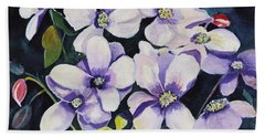 Moon Flowers Bath Towel