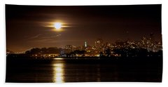 Bath Towel featuring the photograph Moon Glow by Steven Reed