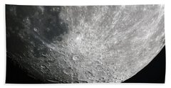 Moon Hi Contrast Bath Towel by Greg Reed