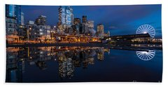 Moon Over The Waterfront Hand Towel