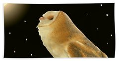 Moon Owl Hand Towel