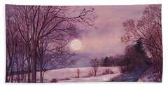 Moon Rising Hand Towel by Joy Nichols