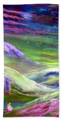 Hand Towel featuring the painting Moon Shadow by Jane Small