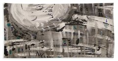Bath Towel featuring the painting Moon Shimmer by Mary Carol Williams