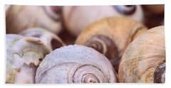 Bath Towel featuring the photograph Moon Snail Shells by Peggy Collins