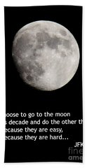Moon Speech Bath Towel by Kenny Glotfelty