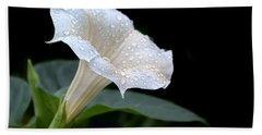 Moonflower - Rain Drops Hand Towel by Nikolyn McDonald