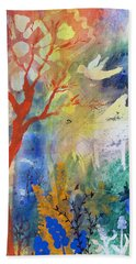 Hand Towel featuring the painting Moonlight Serenade by Robin Maria Pedrero