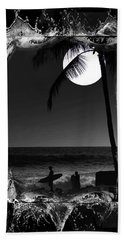 Hand Towel featuring the photograph Moonlight Surf by Athala Carole Bruckner