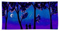 Moonlight Walk Hand Towel