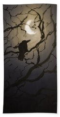 Moonlit Perch Hand Towel