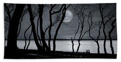 Moonlit Stroll Hand Towel by Robin-Lee Vieira