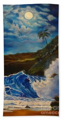 Moonlit Wave 11 Hand Towel